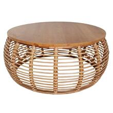 Iris Rattan Coffee Table, Honey
