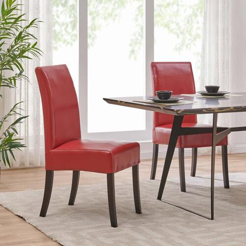 Valencia BONDED Leather Dining Side Chair, Red