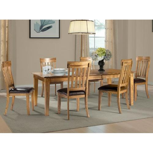 See Details - Rectangle Leg Table W/ 1 Leaf
