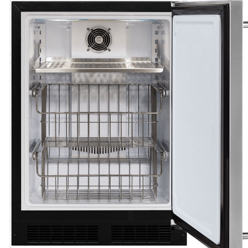 24-In Built-In High-Capacity Freezer with Door Style - Stainless Steel