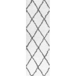 Jersey Shag - JRS1100 White Rug