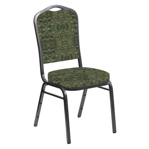 Crown Back Banquet Chair in Watercolor Giverney Fabric - Silver Vein Frame