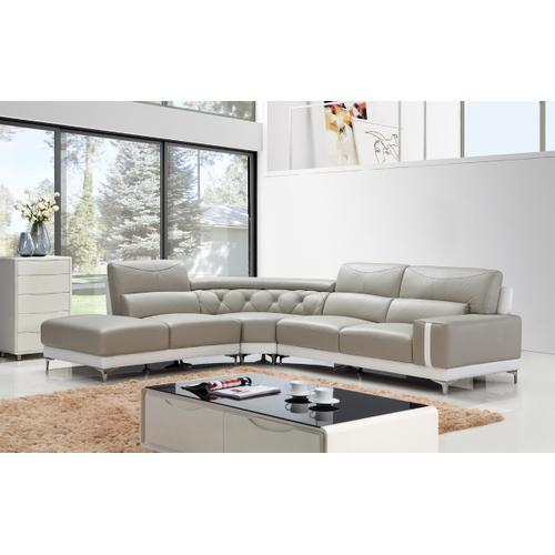 Divani Casa T739 Modern Grey & White Leather Sectional Sofa