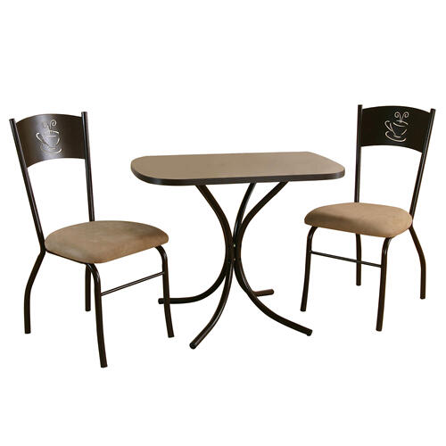 Product Image - Dining Set (3 Piece) cappuccino dining set
