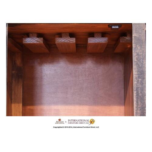 Bookcase/Wine Rack, 2 drawers, glass holder behind door * Removable shelf, Black finish