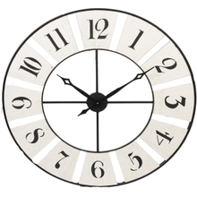 Distressed Ivory Wall Clock