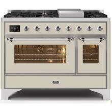 "48"" Inch Antique White Natural Gas Freestanding Range"
