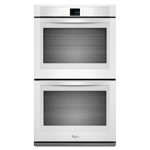Whirlpool - 10 cu. ft. Double Wall Oven with extra-large oven window
