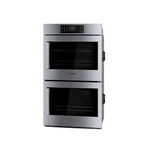 Benchmark® Double Wall Oven 30'' Stainless steel, Door hinge: Right HBLP651RUC
