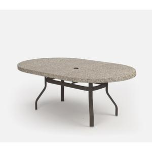 """42"""" x 72"""" Oval Dining Table (with Hole) Ht: 27.25"""" 37XX Universal Aluminum Base (Model # Includes Both Top & Base)"""