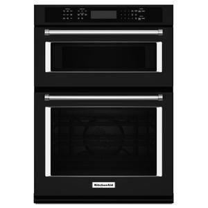 "KITCHENAID27"" Combination Wall Oven with Even-Heat(TM) True Convection (lower oven) - Black"