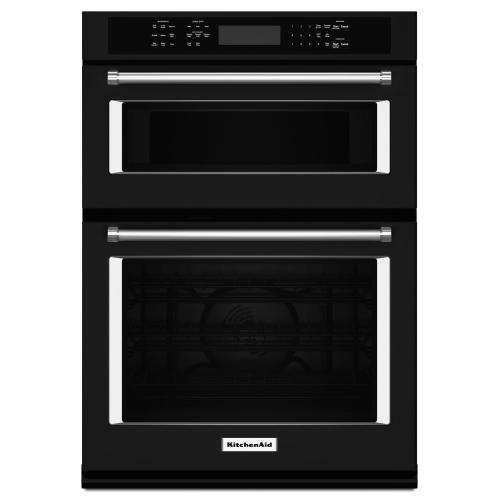 "KitchenAid KOCE507EBL   27"" Combination Wall Oven with Even-Heat™ True Convection (lower oven) - Black"