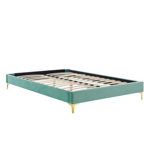 Sutton King Performance Velvet Bed Frame in Mint
