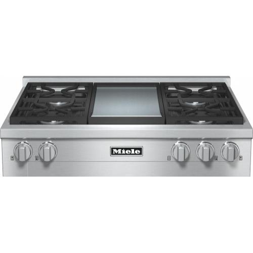Miele - KMR 1136 LP RangeTop with 4 burners and griddle for versatility and performance