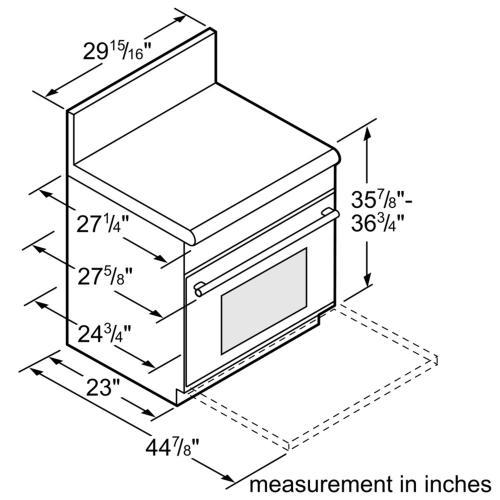 Thermador - 30-Inch Pro Harmony® Standard Depth Gas Range