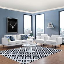 Agile 3 Piece Upholstered Fabric Set in White