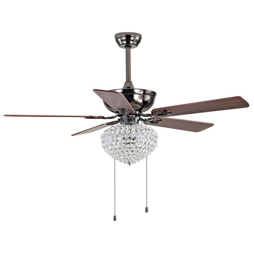 Korla Ceiling Light Fan - Dark Walnut With Black / Dark Walnut( Reversible Option)