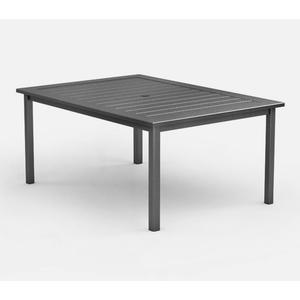"44"" x 62"" Rectangular Dining Table (with Hole) Ht: 27.5"" Post Aluminum Base (Frame Finish: Carbon)"
