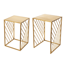 See Details - Gold Angled Line Nested Table (2 pc. set)