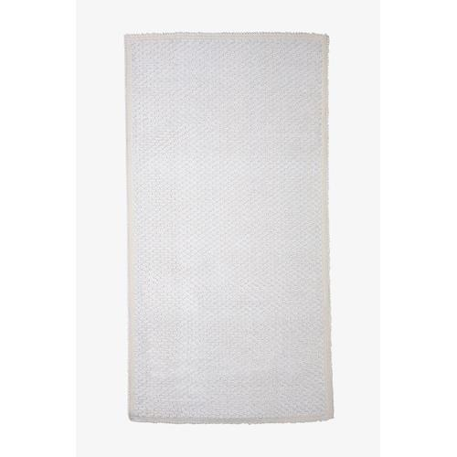 """Grano Sculpted Rug 27 1/2"""" x 55"""" in White"""