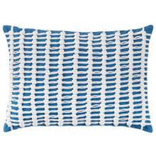 See Details - Retired Macrame Pillow, BLUE, 14X20