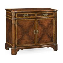See Details - Serpentine Two Door Mahogany Cabinet