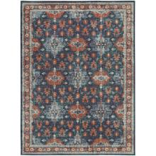 "Soiree Shelburne Indigo 2' 4""x7' 10"" Runner"