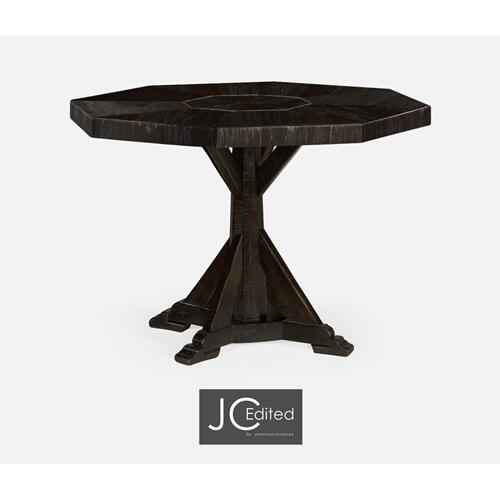 Octagonal Dark Ale Centre Table