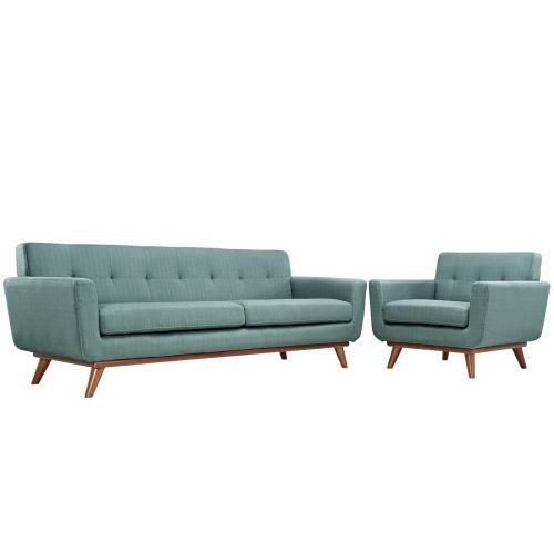Modway - Engage Armchair and Sofa Set of 2 in Laguna