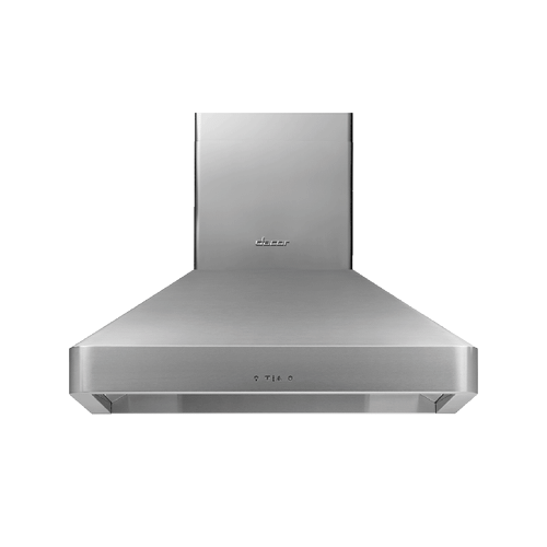 "36"" Chimney Wall Hood, Silver Stainless Steel"