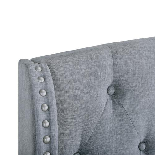 Accentrics Home - Queen Tufted Wing Bed In Smoke