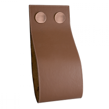 "Garage Magazine Holder W 5 3/4"" X H 12 5/8"" Brown Leather"