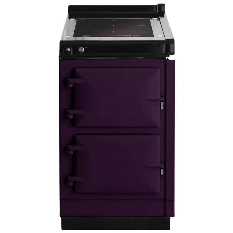 """AGAAga Hotcupboard 20"""" Induction Aubergine With Stainless Steel Trim"""