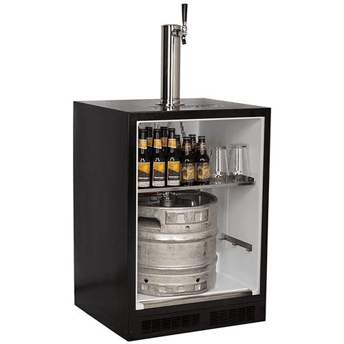 24-In Built-In Dispenser For Beer, Wine And Draft Beverages with Door Style - Stainless Steel