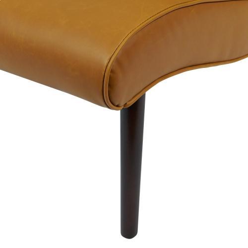 Alexis Bonded Leather Chair Wenge Legs, Vintage Caramel