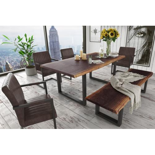 Modrest Taylor Modern Live Edge Wood Small Dining Bench