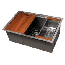 """See Details - ZLINE 27"""" Garmisch Undermount Single Bowl Kitchen Sink with Bottom Grid and Accessories (SLS) [Color: Stainless Steel]"""