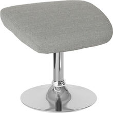 Egg Series Light Gray Fabric Ottoman
