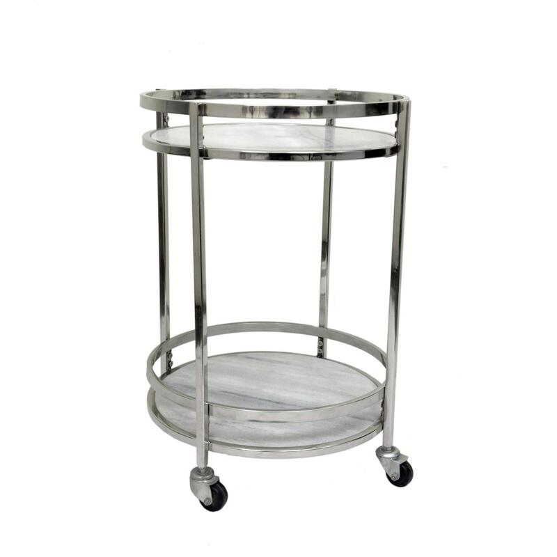 Hadley Marble Bar Cart
