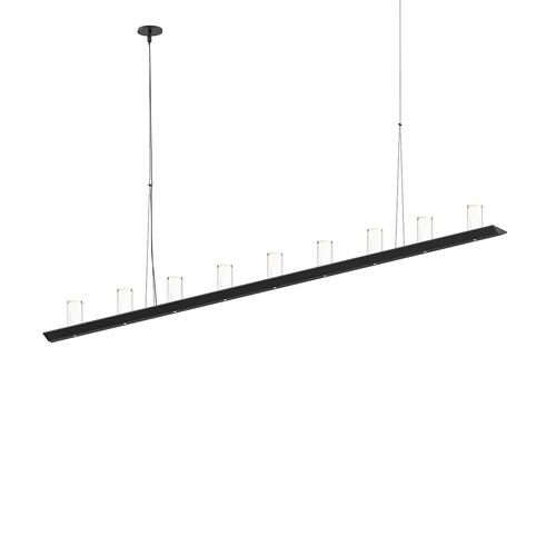 "Sonneman - A Way of Light - Votives LED Bar Pendant [Size=6', Color/Finish=Satin Black, Shade Size=4"" height x 2"" diameter]"