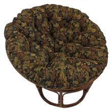 Bali 42-inch Indoor Fabric Rattan Papasan Chair - Walnut/Autumn Harvest