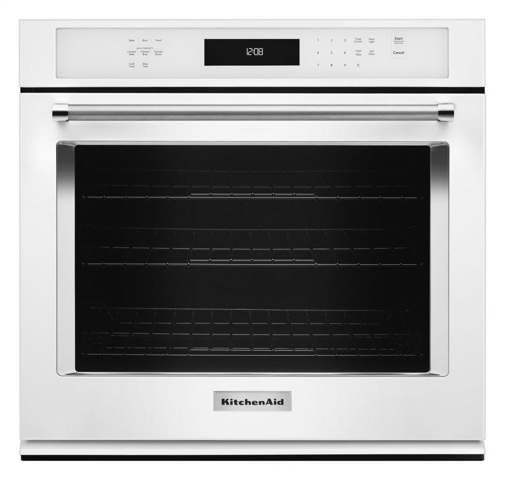 """KitchenAid30"""" Single Wall Oven With Even-Heat™ True Convection - White"""