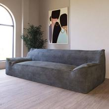 Divani Casa Bevan - Contemporary Dark Grey Fabric Sofa