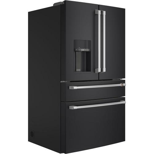 Café ENERGY STAR ® 27.8 Cu. Ft. 4-Door French-Door Refrigerator Matte Black