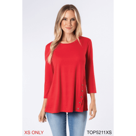 Nautical Crew Neck with Buttons Top - XS (2 pc. ppk.)