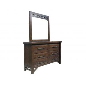 Timber Dresser/Mirror, Brown