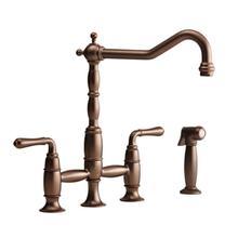 See Details - Victorian Bridge Kitchen Faucet - Carbon Bronze