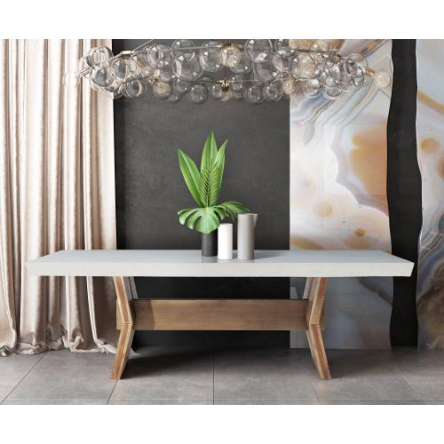 Tov Furniture - Astoria White Concrete Table