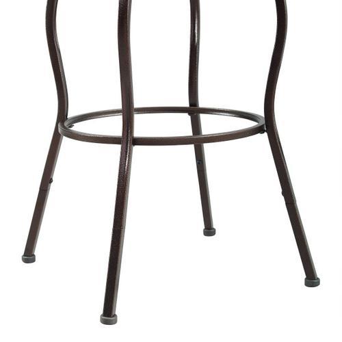2-in-1 Metal Swivel Barstool
