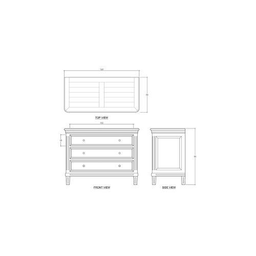 Hayward 3 Drawer Dresser - CCA
